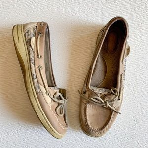 Sperry Top-Sider Boat Shoes Leopard Print Size 9